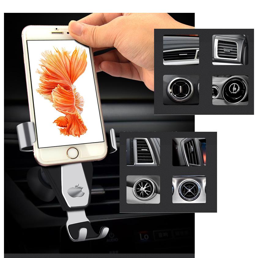 Giá đỡ điện thoại trên ô tô gắn cửa gió điều hòa hợp kim nhôm đẳng cấp