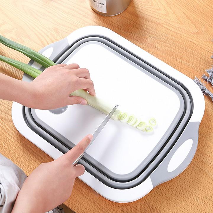 Thau Kèm Thớt Gấp Gọn Đa Chức Năng - Tiện Dụng Cho Nhà Bếp