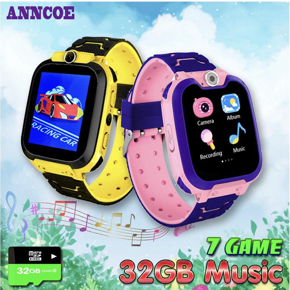 Đồng hồ Điện thoại ANNCOE G3 có 7 GAME Giải trí, Hỗ trợ Thẻ nhớ 32G Music, lắp Sim không cần Đăng ký 4G, Thêm danh bạ dễ dàng không cần ứng dụng - Hàng Chính Hãng
