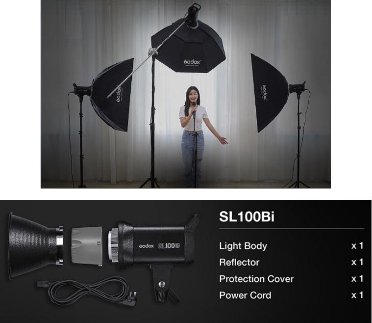 Đèn LED Godox SL100BI 2800K – 6500K Hàng Chính Hãng