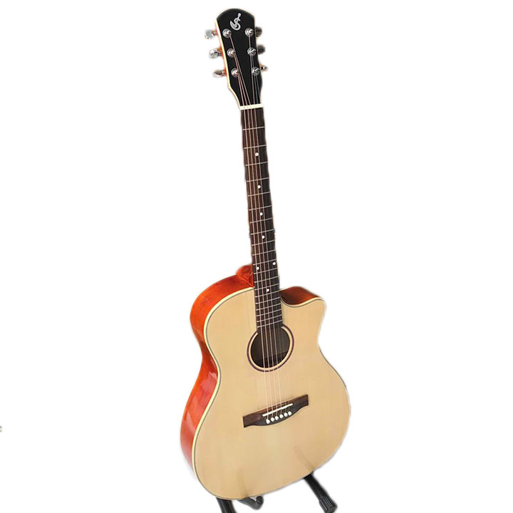 Đàn guitar acoustic có ty chống cong cần SVA1