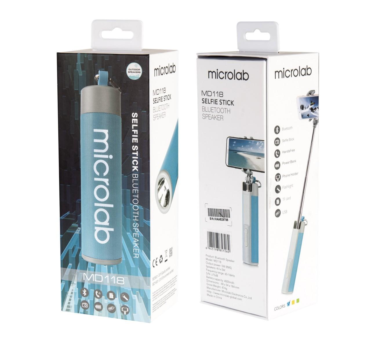 Loa Bluetooth Microlab MD118 ( Màu Ngẫu Nhiên ) - Hàng Chính Hãng