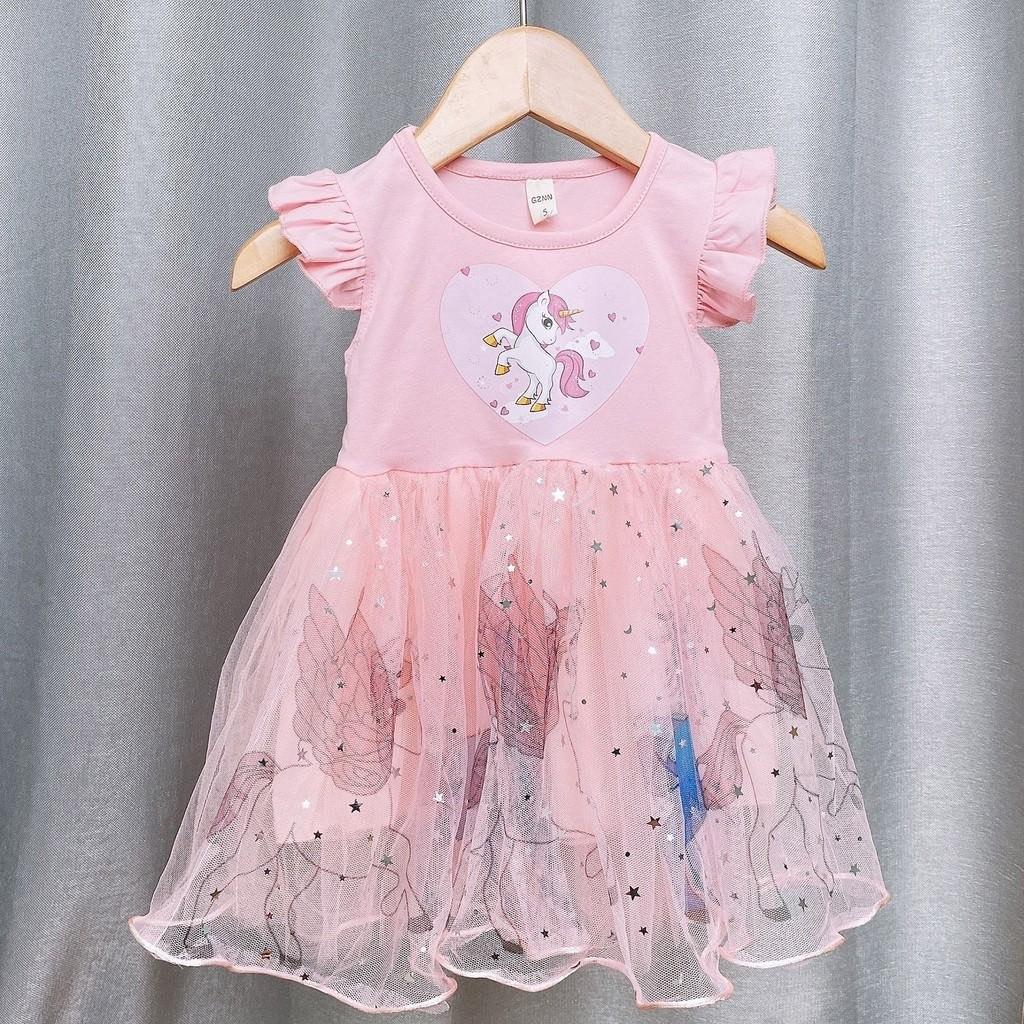 Váy đầm bé gái đẹp váy cho bé gái công chúa Elsa  váy xòe cho bé gái in họa tiết 3D -  2104.04 CS123