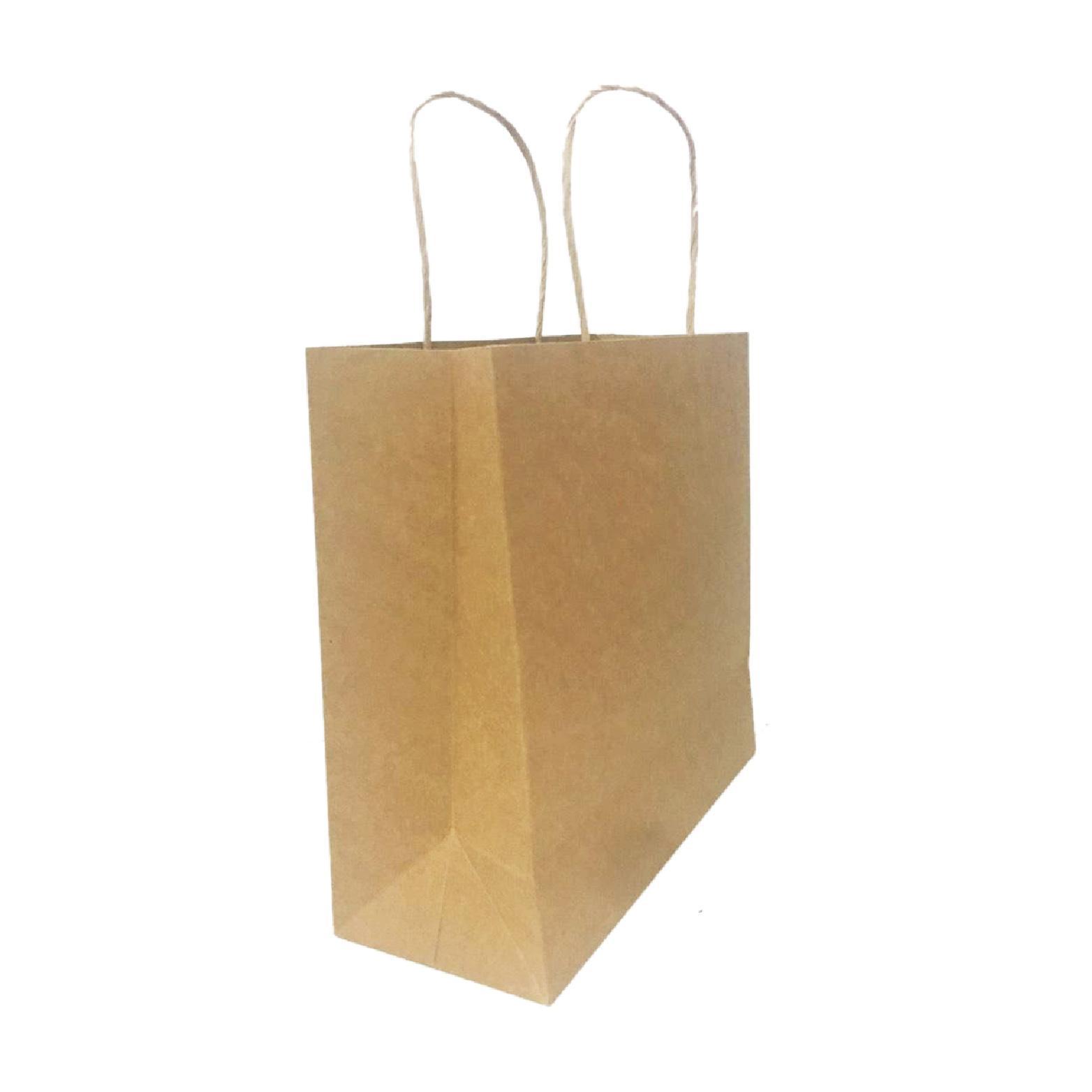 Combo 50 Túi giấy Kraft trơn Ngang 23cm x Cao 23cm x Hông 10cm