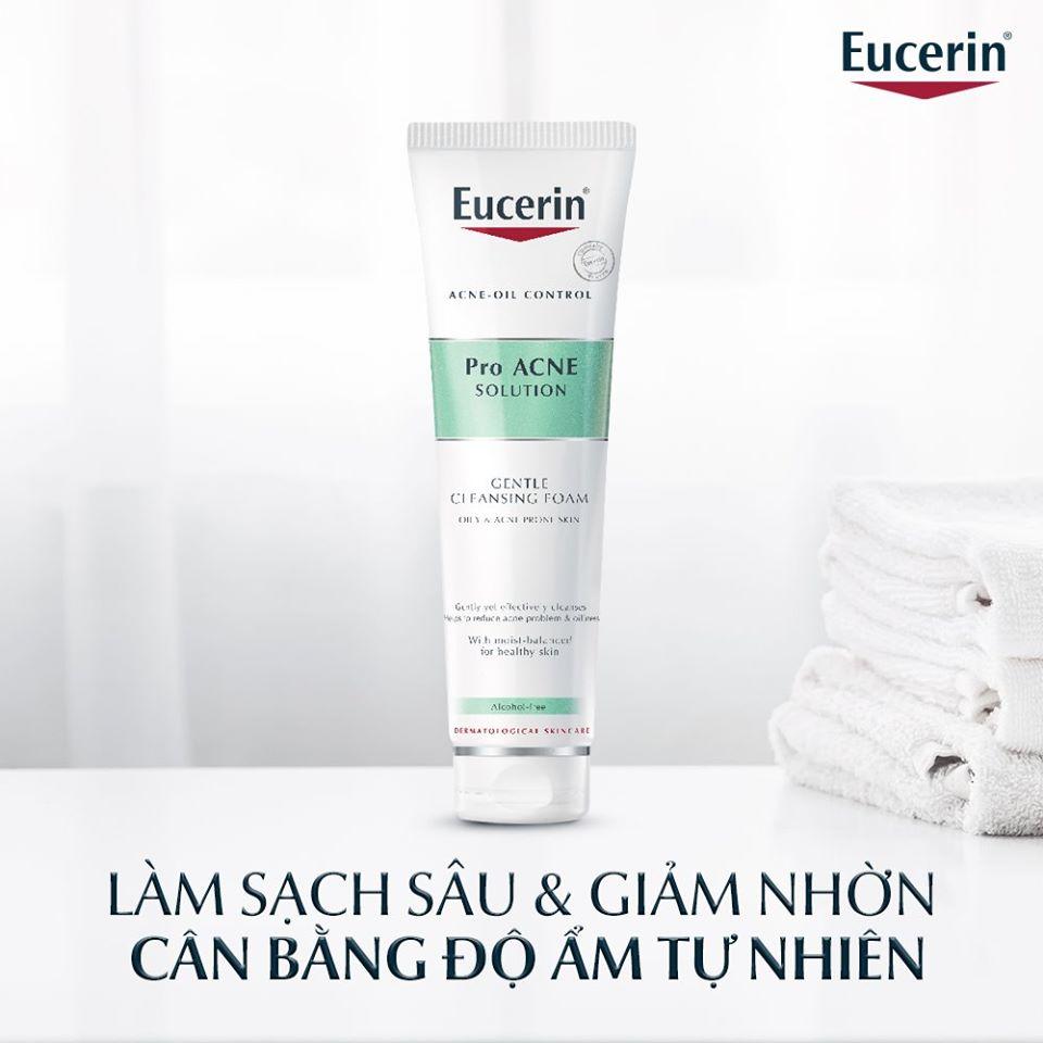 Sữa rửa mặt tạo bọt da mụn Eucerin Pro Acne Cleansing Foam 150g (Nhập khẩu)