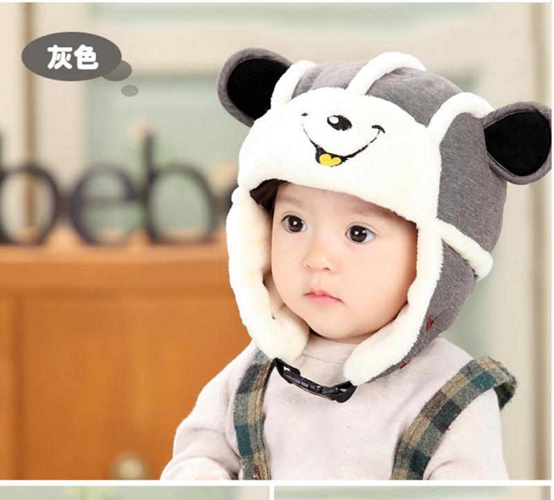 Mũ len cho bé hình gấu đáng yêu