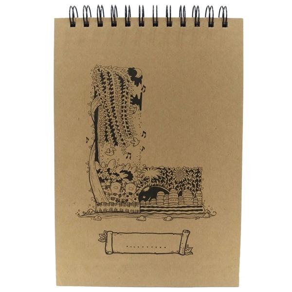 Sổ Lò Xo Sketchbook Alphabet - Mẫu 15 - Chữ L