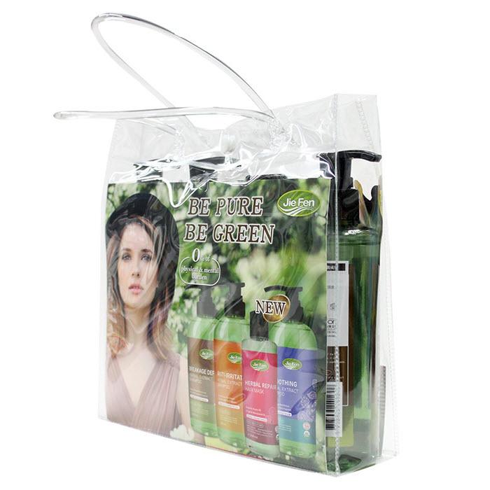 Bộ dầu gội thảo dược Organic tóc suôn mềm bóng mượt Jie Fen Delux Gift Set, Taiwan 4 x 250ml