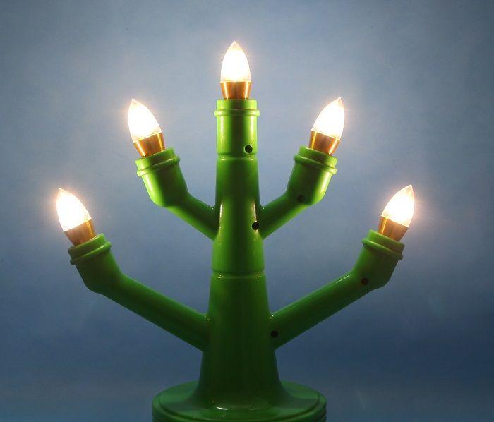 Bóng đèn LED C35 4W hình quả nhót viềm vàng đui E14 hàng chính hãng