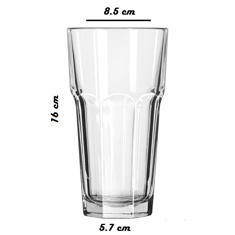 Bộ 6 Ly Thủy Tinh Uống Bia Úp Ngược 8 Góc Cao Camdaco (420ML)