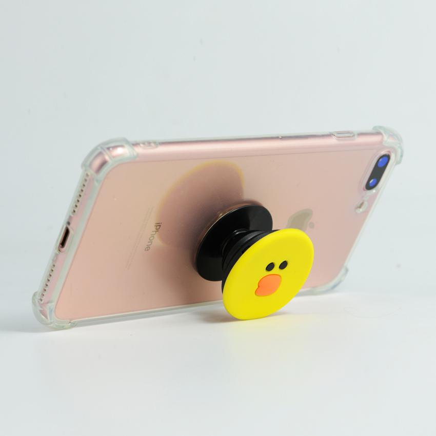 Gía đỡ điện thoại đa năng, tiện lợi - PopSockets - Hình Hoạt hình 3D - Vịt Sally ngộ nghĩnh- Hàng Chính Hãng