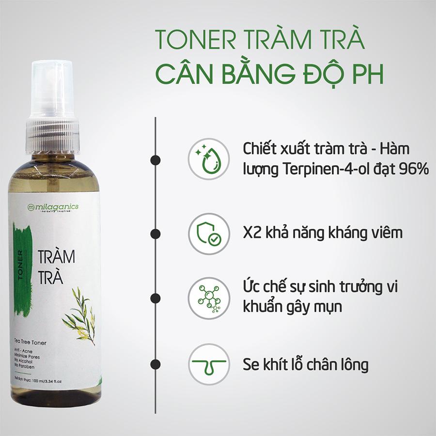 Toner Tràm Trà Milaganics Ngừa Mụn 100ml