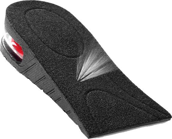 Lót giày tăng chiều cao cao su nửa bàn 1 lớp cao 3 cm (Màu Đen)