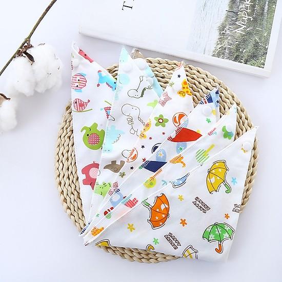 Combo 5 khăn yếm quàng cổ hai lớp tam giác cotton cho bé