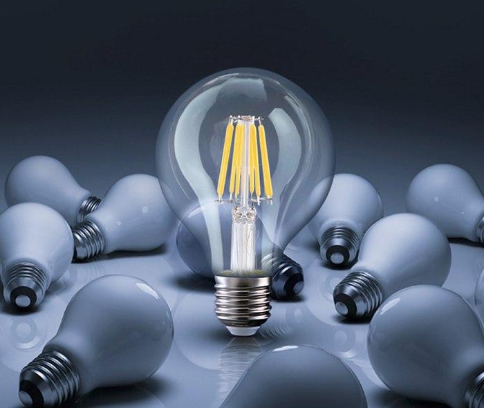 Bộ 3 bóng đèn Led Edison G80 6W đui E27.