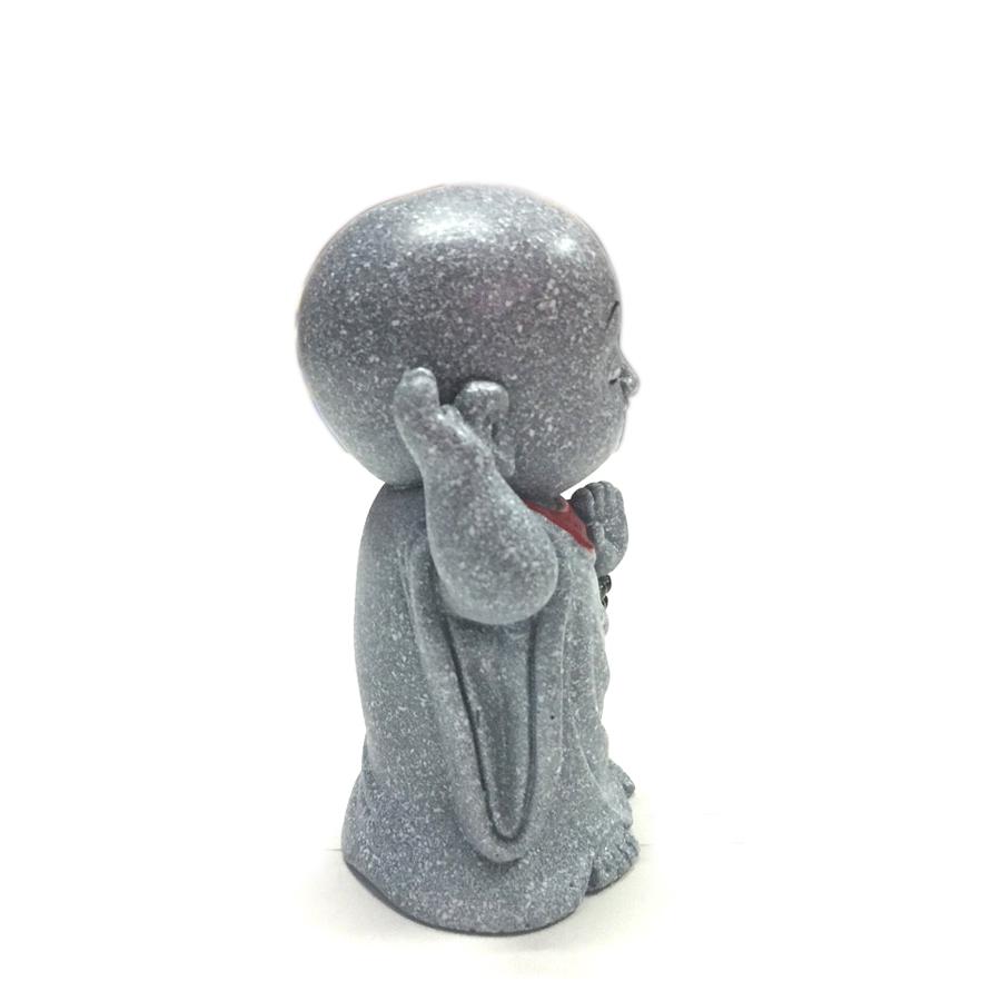 Tượng đá chú tiểu an nhiên - màu đá