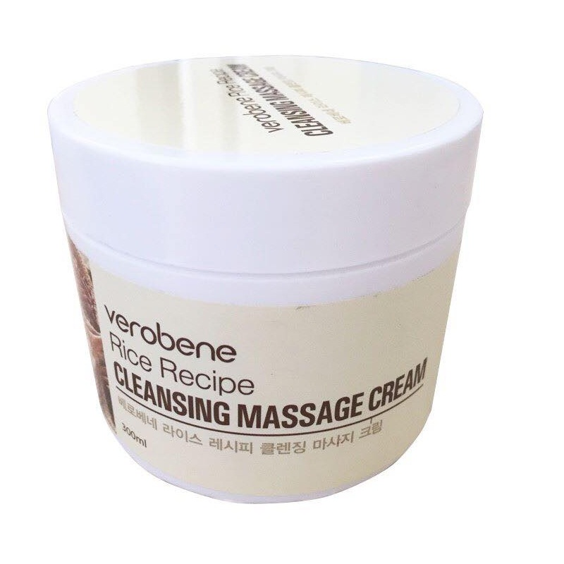 Kem Tẩy Trang MassageVerobene Rice Recipe Cleansing Massage Cream 300 ml