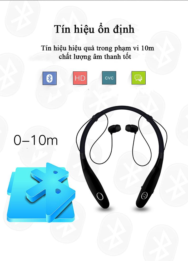 Tai Nghe Đeo Cổ Bluetooth Không Dây HBS900C