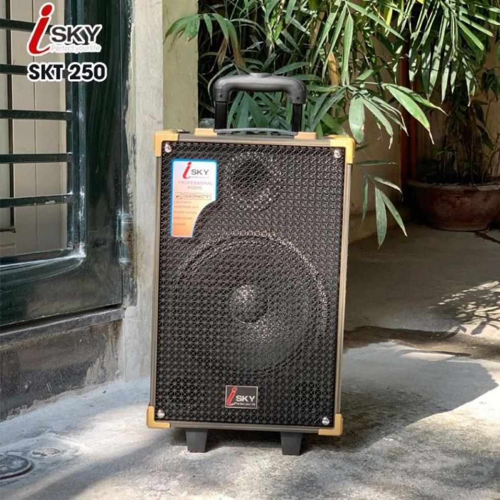Loa Kéo Karaoke Cao Cấp ISKY SKT-250 Công Suất 1000W Siêu Bass 25cm Bluetooth 4.2 Âm Thanh 3D HIFI - Hàng Nhập Khẩu Chính Hãng