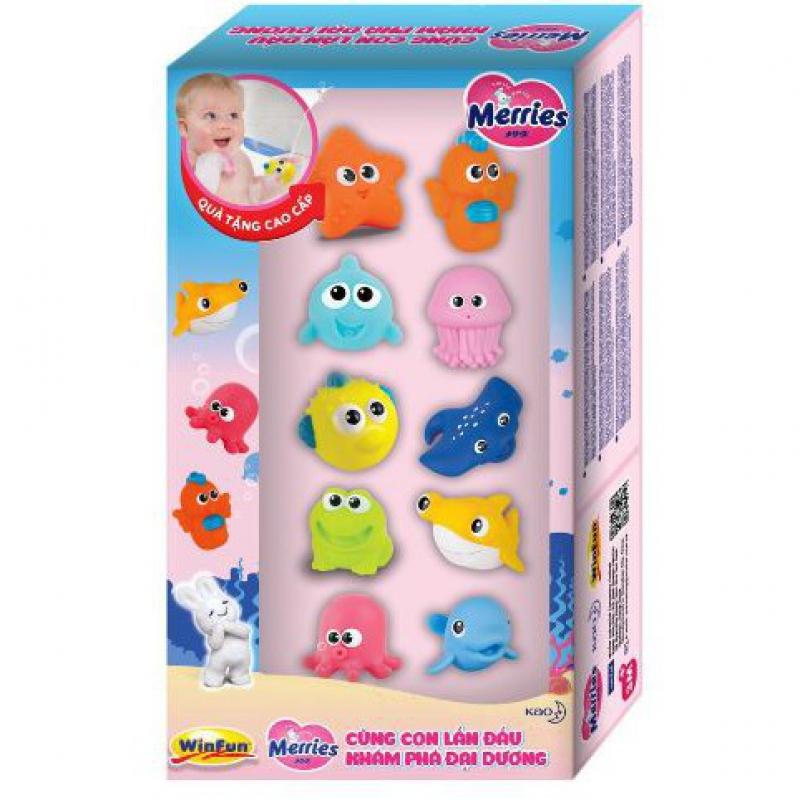 Hộp đồ chơi tắm sinh vật biển 10 con hiệu Winfun