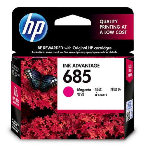 Mực in Phun màu HP 685 (CZ123AA) Magenta - Mực đỏ - Dùng cho HP Deskjet 3525, 4615, 4625, 5525, 6525, 6625 - Hàng Chính Hãng
