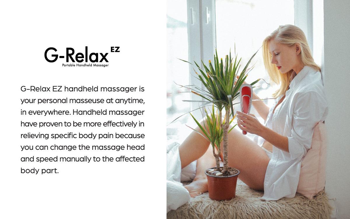 "Máy Massage Chân G-BEETLE PRO tặng ""Máy Massage Cầm Tay G-Relax EZ + Thảm Massage Chân Ten Pad"""