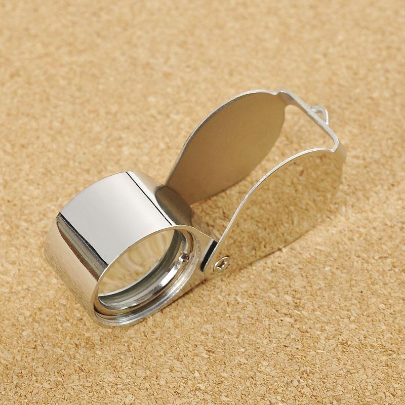 Kính lúp mini phóng đại 30 lần cầm tay - Vỏ được làm bằng kim loại chắc chắn ( Tặng 02 nút cao su giữ dây điện cố định )