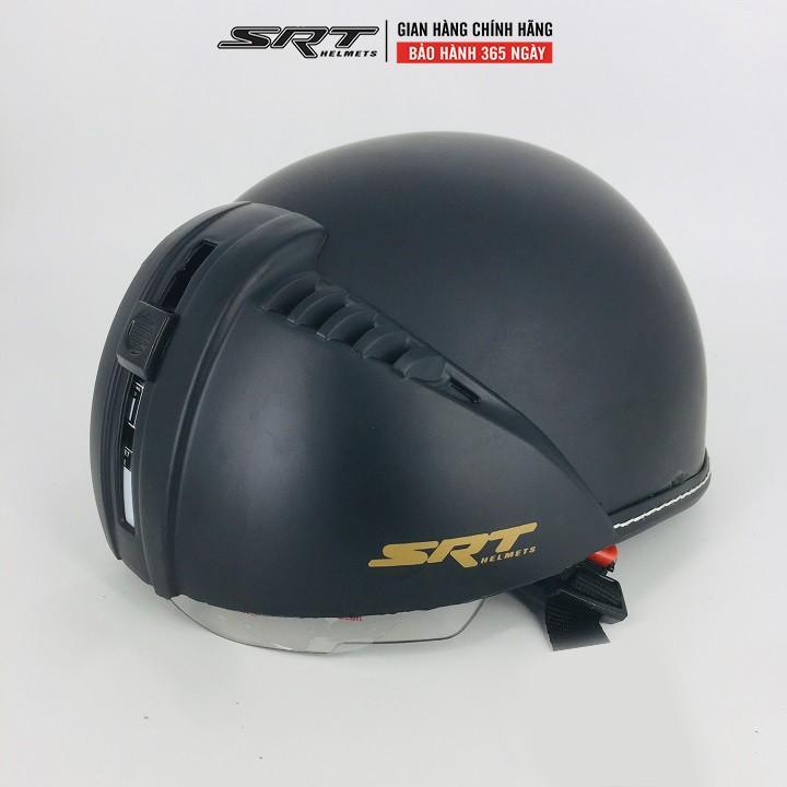 Mũ Bảo Hiểm Nửa Đầu Kính Âm SRT