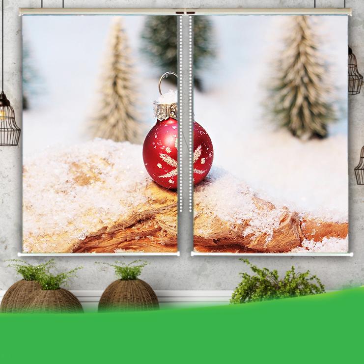 Rèm Tranh 2 Tấm Mẫu Giáng Sinh_CMAS51
