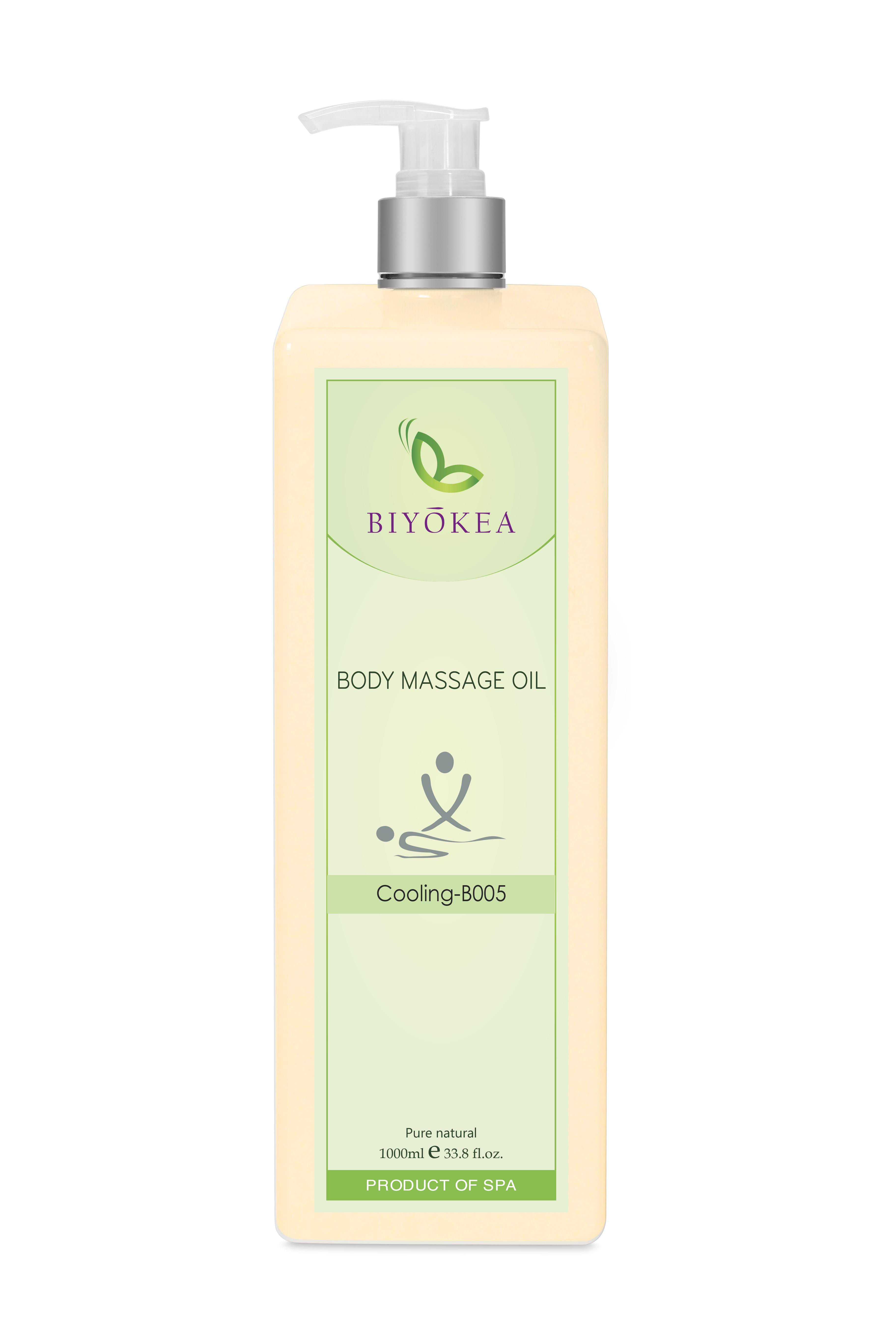 Dầu Massage Body Biyokea - Cooling B005 (Làm mát) - 1000ml