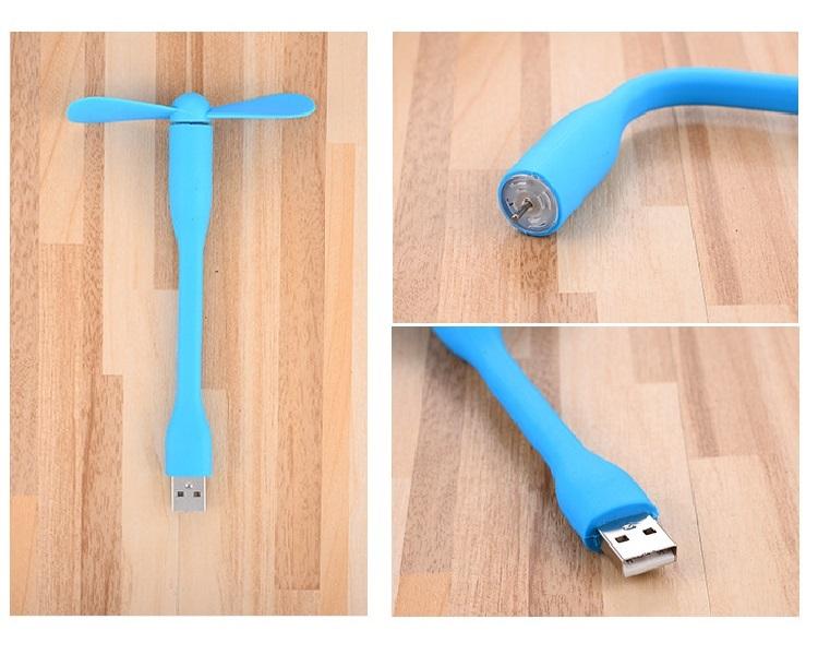 Combo 2 Quạt Cầm Tay Mini Cắm Cổng USB Laptop, Sạc Dự Phòng No.1