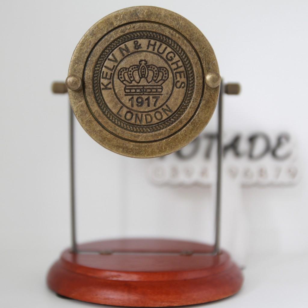 Đồng hồ cát cổ điển cao cấp - Bầu thủy tinh, khung kim loại, đế gỗ