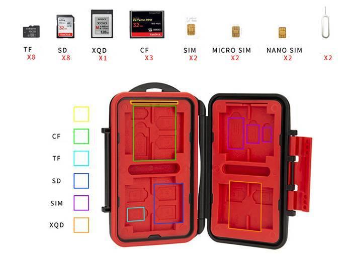Hộp đựng thẻ nhớ SD CF XD XQD TF Kingma hàng chính hãng.