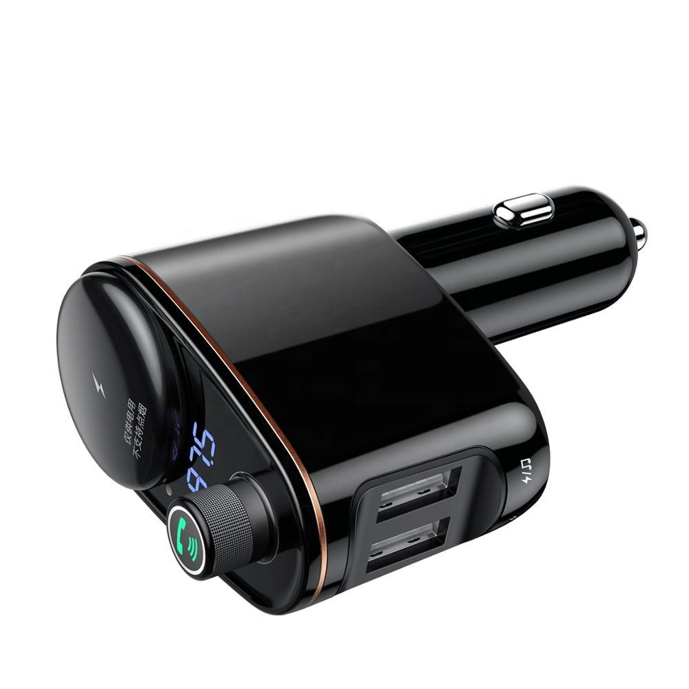 Tẩu nghe nhạc chuyên dụng trên ô tô tích hợp 2 cổng sạc điện thoại, USB và đàm thoại rảnh tay Bluetooth 4.2 - Hàng Chính Hãng