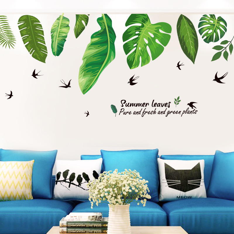 Decal dán tường Grean Leaves Art XL8362