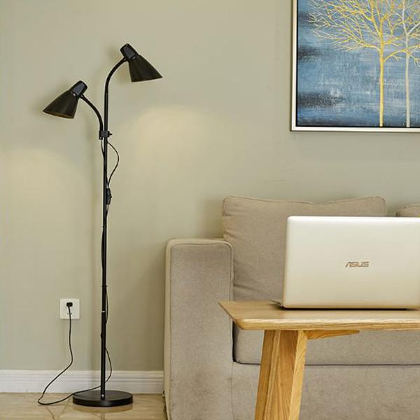 Đèn cây đứng 2 nhánh kiểu mới DC9011 FULL BOX - kèm bóng 2 LED cao cấp