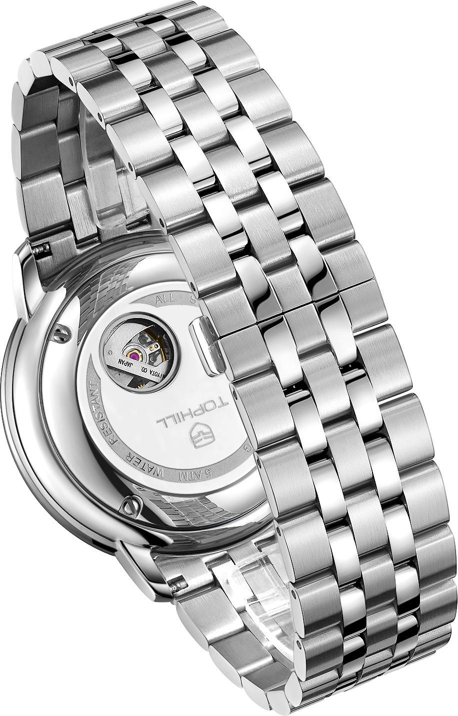 Đồng hồ nam máy cơ tự động lộ máy TOPHILL TW070G.S1338