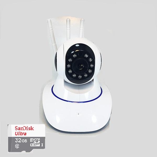 Camera wifi YooSee 3 râu 11 led HD-720P NN311 tặng thẻ nhớ 32G - Hàng nhập khẩu