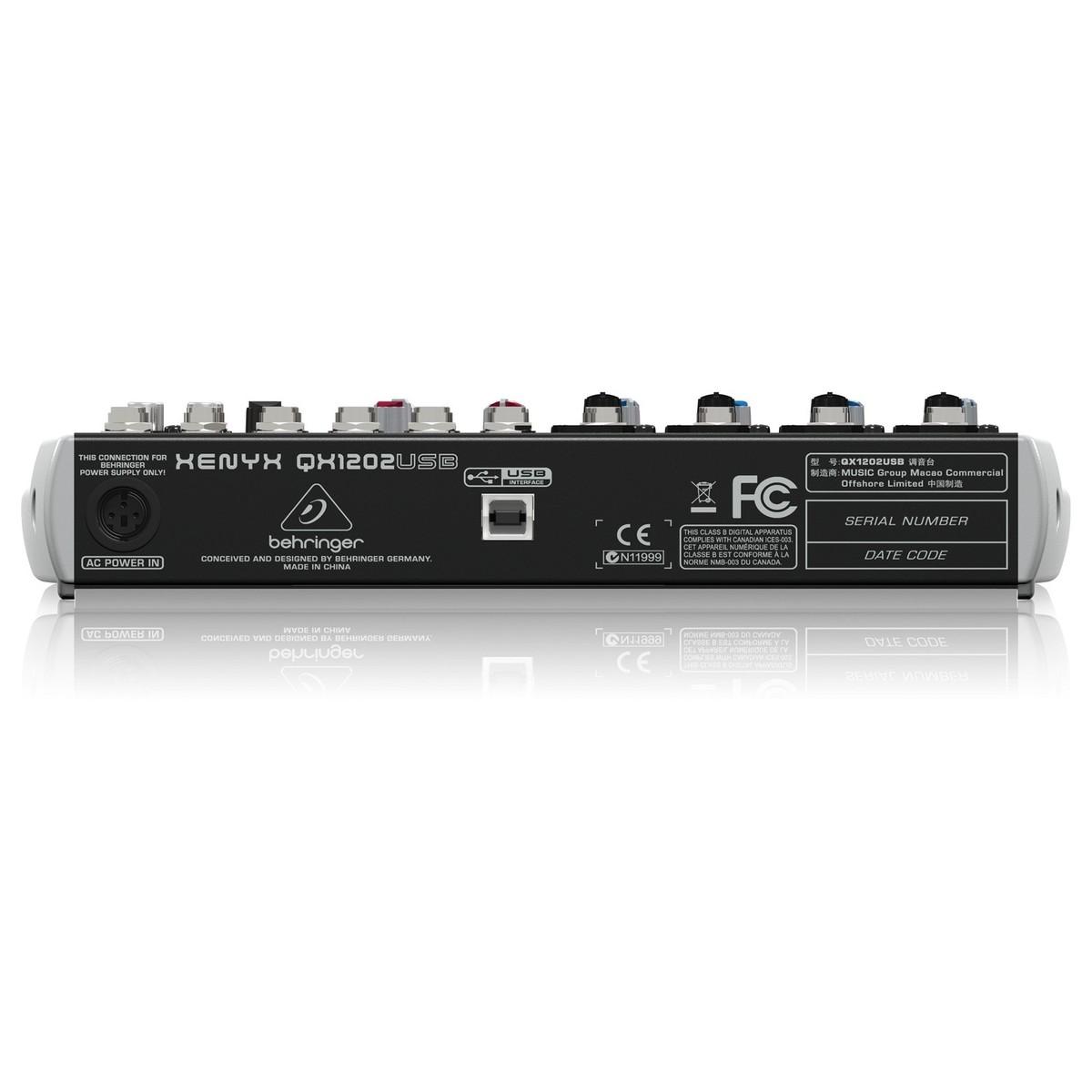 Behringer QX1202 USB - Mixer USB 12 Cổng kèm hiệu ứng - Hàng nhập khẩu