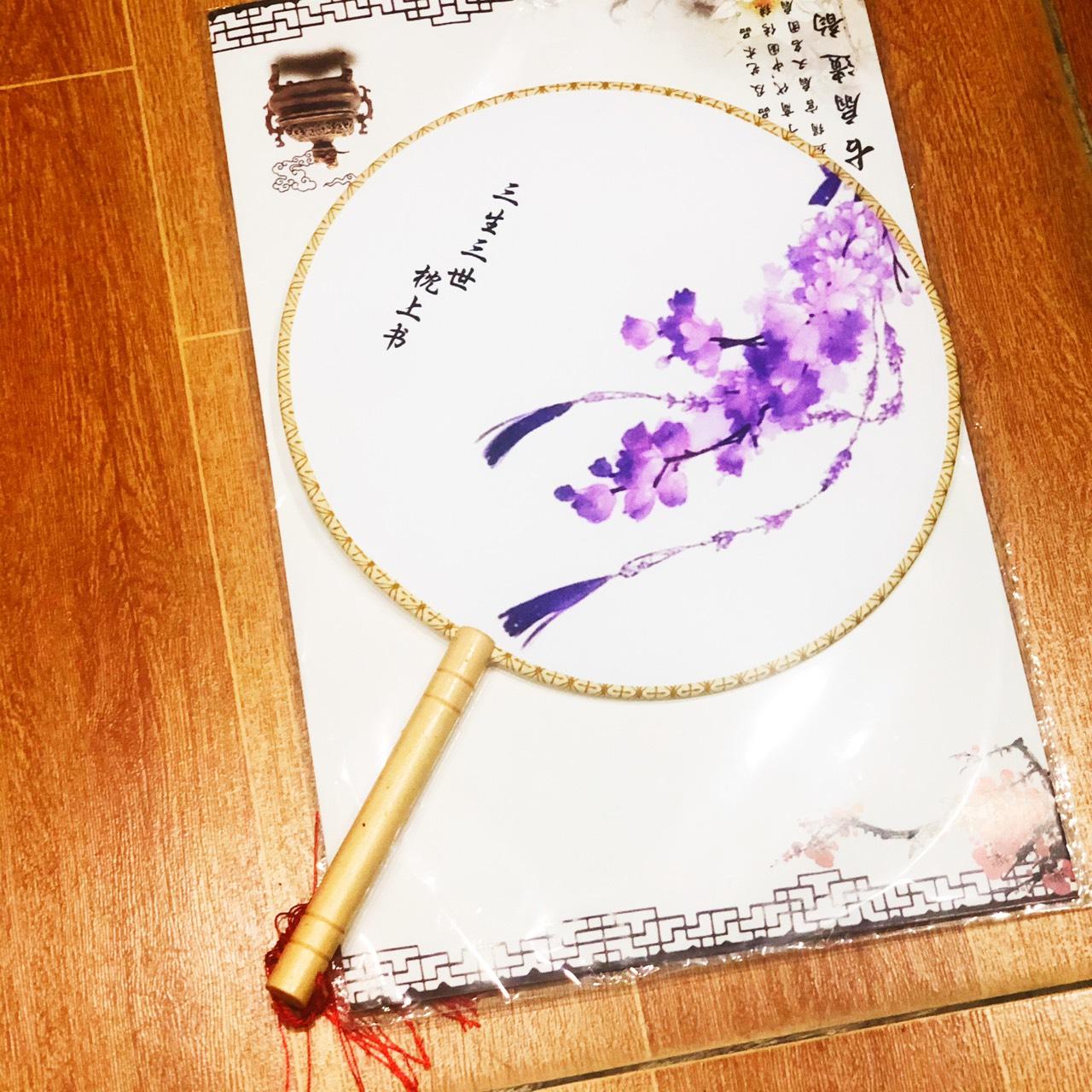 Quạt tròn cổ trang Tam sinh tam thế chẩm thượng thư phong cách Trung Quốc tặng ảnh Vcone