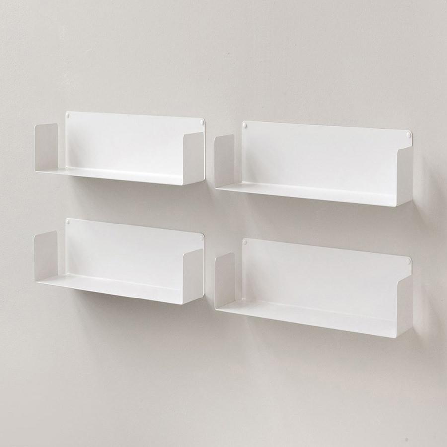 Kệ sách treo tường đơn giản chữ U45 (Set 4) - Đen