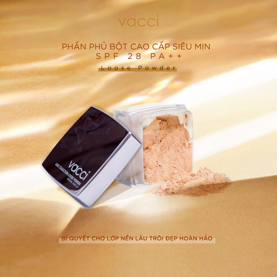 Phấn phủ cao cấp dạng bột VACCI Loose Powder SPF 28 PA++