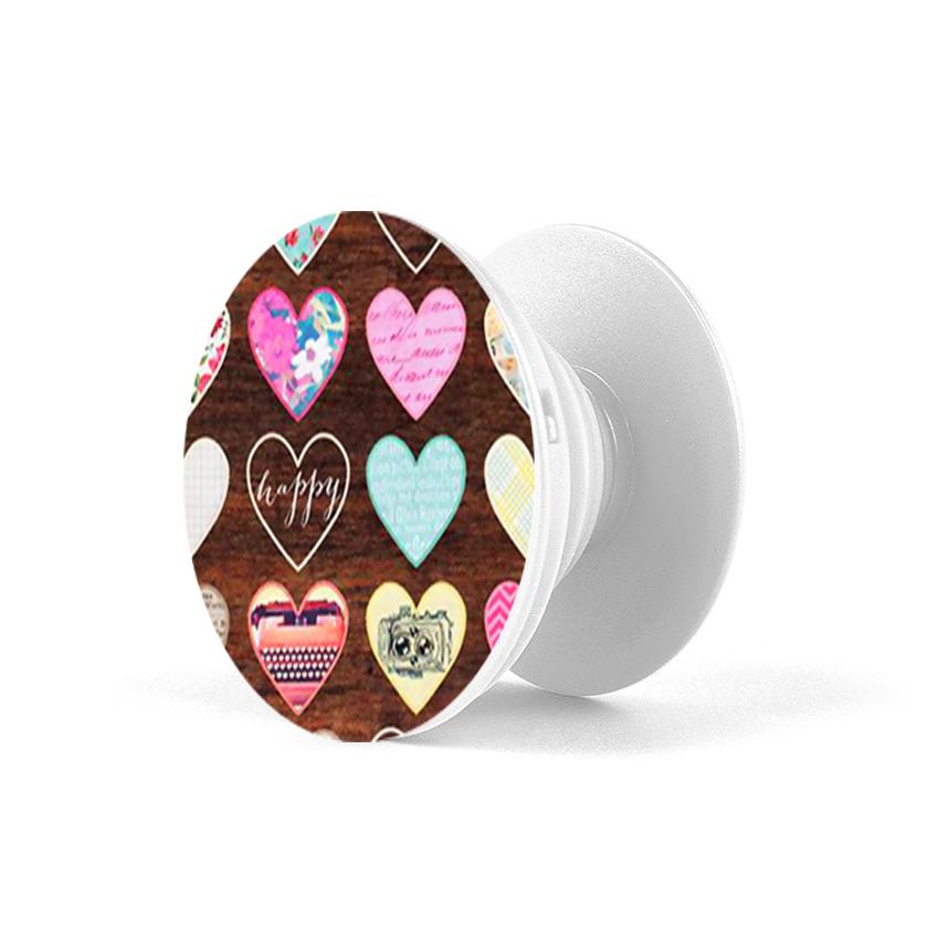 Gía đỡ điện thoại đa năng, tiện lợi - Popsockets - In hình HEART 08 - Hàng Chính Hãng