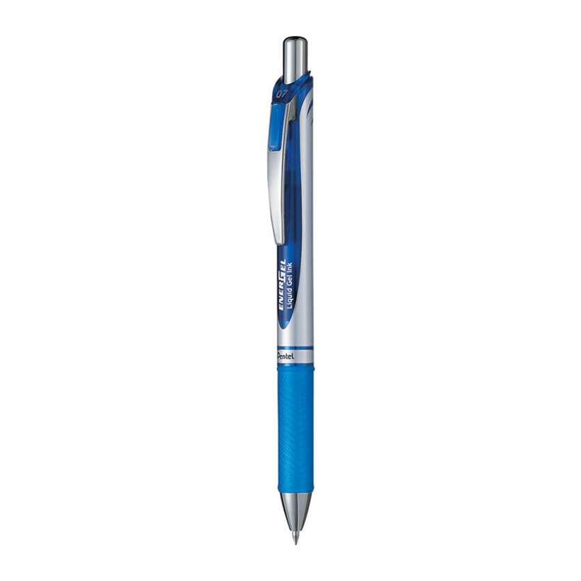 Bút Bi Nước Bấm Pentel Xanh 0.7mm - BL77C (2 chiêc)