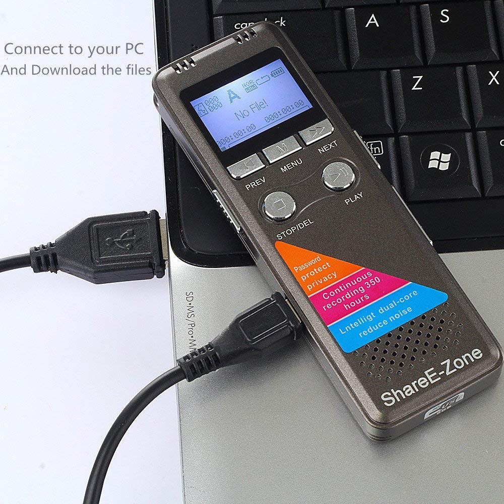 Máy Ghi Âm Chuyên Nghiệp Cao Cấp A700 Bộ Nhớ Trong 8GB AZONE