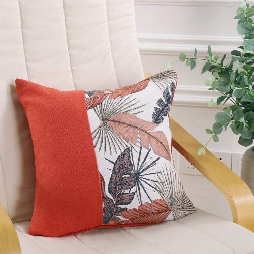 Vỏ Gối sofa tựa lưng Gối trang trí vải cotton bố dệt 7D