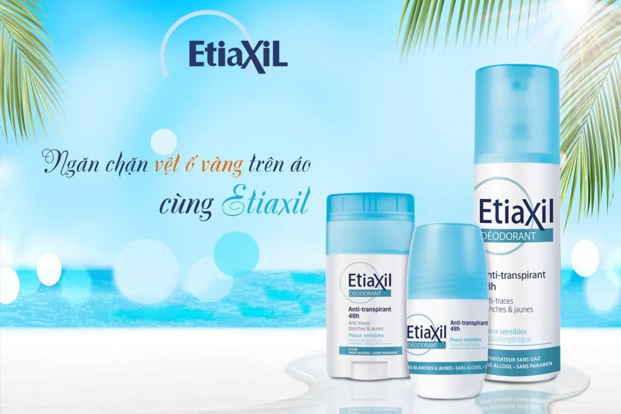 Lăn Khử Mùi Hàng Ngày Etiaxil Deodorant Anti Transpirant 48h 50ml + Tặng 1 Lưới Tạo Bọt Rửa Mặt