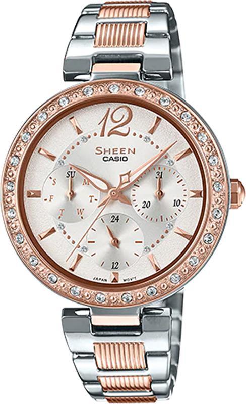Đồng hồ Nữ Casio dây Kim loại kính Cứng SHE-3065SPG-7AUDF