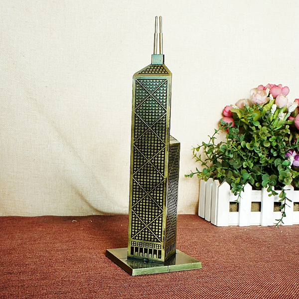 Mô hình tháp Ngân Hàng cao 26 cm (Màu Vàng Rêu)