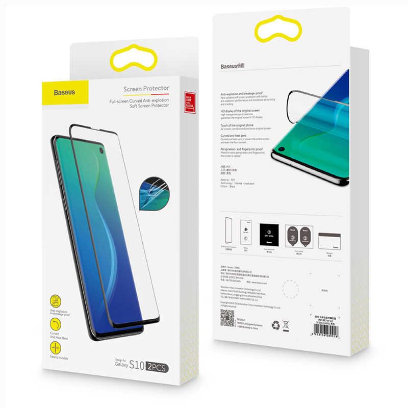 Bộ 2 miếng dán full màn hình Baseus Full Screen LV460 cho Samsung S10 / S10 Plus- Hàng chính hãng